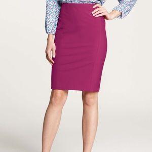 Ann Taylor stretch pencil skirt in purple